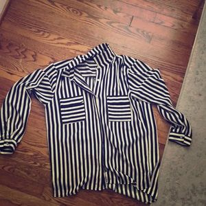Ark & Co striped blouse. Never worn